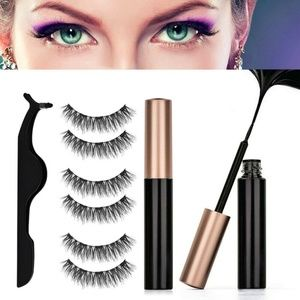 3 Pairs Magnetic Eyelashes & Eyeliner, Applicator